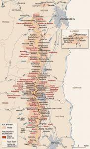 Alsace Cru map