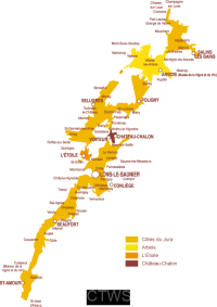 Jura Vineyard map